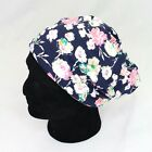 D&Y Womens Beanie and Headband Hat 2 Ways to Wear Slouchy Carnation Floral Print