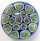 vintage floral millefiore glass art 3 paper weight