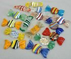 VINTAGE MURANO ART GLASS ASSORTED WRAPPED CANDY HARD CANDIES BOWL FILLERS DECOR