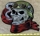 LARGE EMBROIDERED 69 DEATH SKULL BIKER MOTORCYCLE IRON ON BACK PATCH