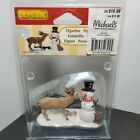 Lemax 2007 Village Collection  Figurine Snack Time Deer and Snowman 3.75 x 2.5