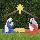 Holy Family Outdoor Nativity Set Color Standard