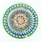 Vintage Perthshire Twist Ribbon  Millefiori Concave Glass Paperweight P Cane