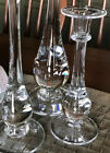 Simon Pearce 10 High Candlestick Candle Holders Sizes 10 Handblown Glass MINT
