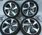 """17"""" FORD FIESTA SET OF GENUINE DIAMOND CUT ALLOY WHEELS WITH 205 45 17 TYRES"""