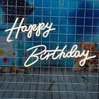 Happy Birthday Warm White Integrative LED Neon Sign for Any Age 12 Volts