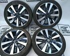 """17"""" NISSAN MICRA, NOTE SET OF 4 STUD GENUINE ALLOY WHEELS WITH TYRES"""
