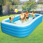 Inflatable Swimming Pool for Kids Adults Family Large Blow Up Swimming