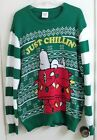 Peanuts Snoopy Just Chillin Christmas Sweater Adult XL X Large New with Tags