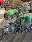 Dripcut vintage glass syrup pitchers Atlas Fiesta Style Shapes Lot Of 4