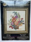 Bucilla FALL FLORAL Heirloom Collection Counted Cross Stitch Kit 45668 NEW