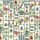 Mahjong Fabric Cotton Craft Quilting Board Games One Metre