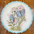 Fenton Custard Plate Hand Painted Signed Louise Piper