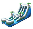 Commercial Inflatable Water Slide Jumper 18 ft Tropical Double Lane with Blower