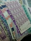9860 FACE VALUE OLD US 3 4 5 6 CENT STAMPS SHEETS + PART SHEETS UNUSED
