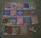 Lot of 18 Vintage Quilters Newsletter Magazines 1990s Patterns Quilts Quilting