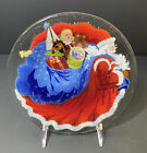 Peggy Karr 8 Round FATHER CHRISTMAS Platter Tray Signed