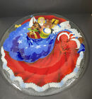 Peggy Karr 20 RARE Round FATHER CHRISTMAS Platter Tray Signed