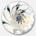 White Stained Glass Floral Art Large Floral Metal Circle Wall Art Disc of 36