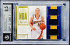 Stephen Curry 2009 National Treasures NBA Gear ROOKIE PATCH RC 25 BGS 8.5 POP 1