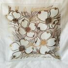 Fred Press Glass Platter Plate Mid Century Square White  Gold
