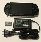 BLACK Sony PSP 3000 System w Charger  Memory Card Bundle TESTED WORKS Import