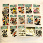 Jolees Boutique HALLOWEEN STICKER LOT Witches Ghost Spiders Bats 3D Stickers
