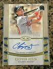 2021 Topps Tier One 1 Chipper Jones Braves On Card Autograph # 50 Auto