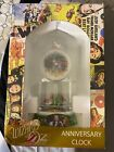 NIB Wizard of Oz Anniversary Clock Ruby Slippers Porcelain Base Glass Dome 9