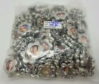 Lot 100 Silver Tone Flower Picture Photo Frame Jewelry Charms Pendants Findings