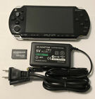 BLACK Sony PSP 2000 System w Charger  Memory Card Bundle TESTED Import