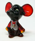 Fenton Gift Shop 2004 Christmas Mouse 5148 Hand Painted Ruby Red Holiday Chums