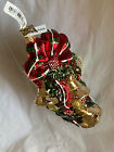 Neiman Marcus 2018 Christmas Glass Ornament Made in Poland Bow  Bells