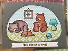 Lawn Fawn clear stamp set + metal dies DEN SWEET DEN Made in USA bears