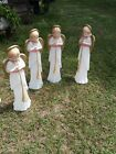 1 Vintage TPI 34 Angel Choir w Horn Nativity Lit Blow Mold Christmas Holiday