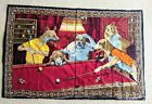 Dogs Playing Pool Cotton 58 by 37 Tapestry Made in Turkey