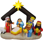 6 Foot Long Christmas Inflatable Nativity Scene with Three Kings Decoration