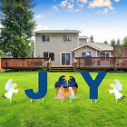 5 Pieces Holy Nativity Yard Sign Outdoor Lawn Decorations Christmas Scene Yard D