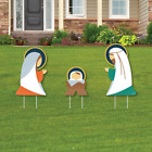 Big Dot of Happiness Holy Nativity Outdoor Lawn Sign Decorations with Stakes