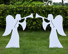 TOETOL Outdoor Nativity Angel Set for Christmas 2 Piece Set for Yard
