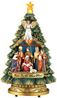 Collections Etc Musical Nativity Scene Christmas Tree Tabletop Figurine Plays