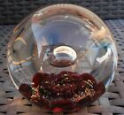 SELKIRK GLASS SCOTLAND SOLITAIRE PAPERWEIGHT 1987 LARGE