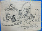 House Mouse ALTERATIONS SEW  GO Stampa Rosa Mice Pins Sewing Clothes NEW Vtg