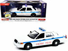 GREENLIGHT 124 2008 FORD CROWN VICTORIA POLICE WHITE CHICAGO POLICE DEPT 85533