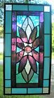 PETAL POWER 20 1 2 x 11 REAL stained glass window panel hangs 2 ways
