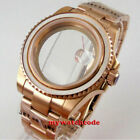 40mm sapphire glass rose golden plated WATCH CASE for NH35 NH36 2824 glass back