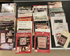 45 Lot Cross Stitch Leaflets Books Christmas Ornaments Samplers And Much More