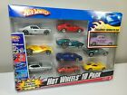 2007 Hot Wheels 10 Pack with exclusive decorated car Ferrari porsche Ford gt
