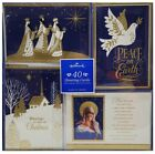 Hallmark 40Count Christmas Religious Greeting Cards with SelfSealing Envelopes
