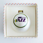 Vintage Utah Jazz Glass Christmas Ornament Sports Collectors Series Made in USA